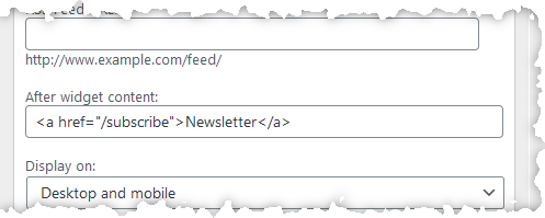 """Picture of field labeled """"After widget content:"""""""