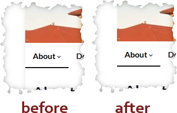 same section of screen before and after applying this fix
